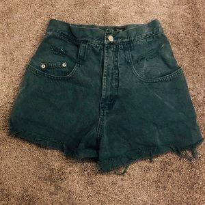 Eunina High Waist Distressed Shorts